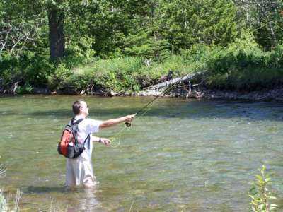 Fly fishing Saint Mary River