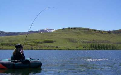 Fishing a great Blackfeet Indain reservation lake