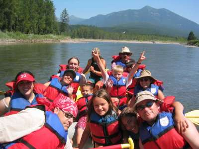 Go rafting down the Middle Fork of the Flathead